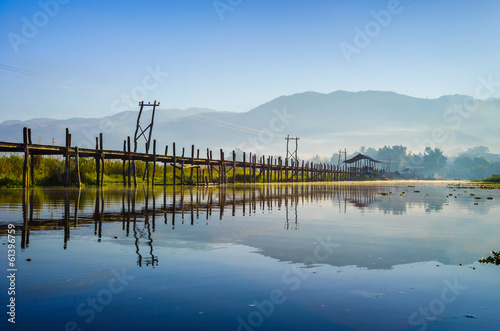 Maing Thauk Bridge, Inle Lake, Shan State, Myanmar.