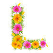 "Spring color letter with flower ""L"""
