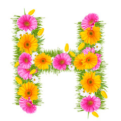 "Spring color letter with flower ""H"""