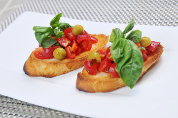 Bread and tomato