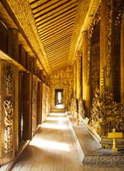 Shwenandaw Kyaung wooden palace, Mandalay, Myanmar