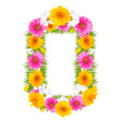 "Spring color number with flower ""0"""