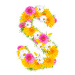 "Spring color letter with flower ""S"""