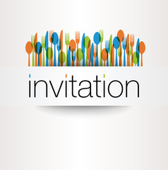 COUVERTS Couleurs Invitation