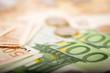 Leinwanddruck Bild - Euro Banknotes