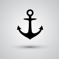 Anchor icon on a gray background