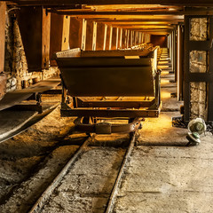 Old coal mine wagon