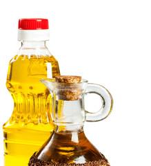 bottle and glass cruet for oil