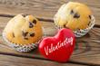 Herz und Muffins - Valentinstag