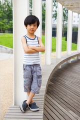 Confident Chinese boy