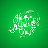 patrick day vintage lettering background