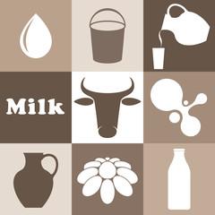 Milk. Set