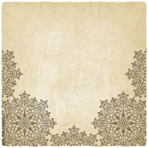 Ornate mehndi old background - vector illustration