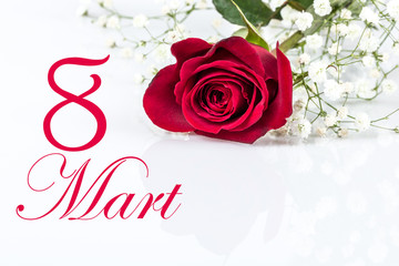 women's day card in Turkish (8 mart)