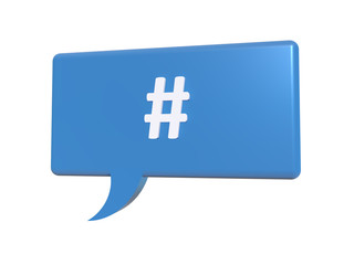 Blue Chat Box hashtag