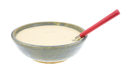 Three Cheese Soup Ceramic Bowl Spoon