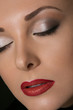 Make up of beautiful woman. Beauty Red Lip Makeup