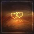 I love you. valentine day concept