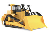 Bulldozer isolated at the white background