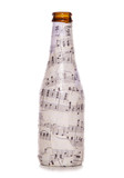 decoupage music beer bottle