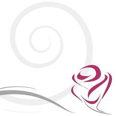 decorazione rosa stilizzata