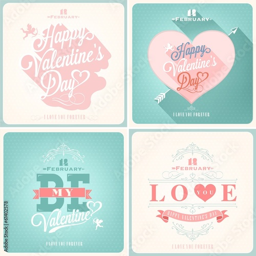 Valentine's Day Illustrations Set