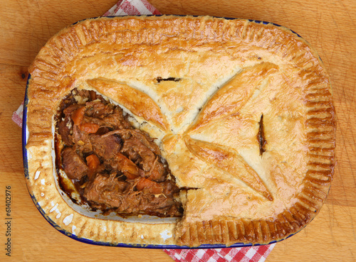 Steak and Vegetable Pie