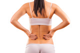 female body with back inflammation poster