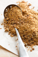 Muscovado or Mascobado cane sugar