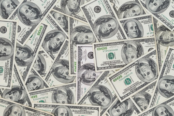Hundreds of new Benjamin Franklin 100 dollar bills