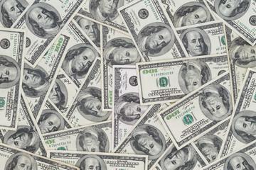 Hundreds of new Benjamin Franklin 100 dollar bills