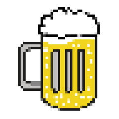 bier glas illustration icon retro 8bit vector style
