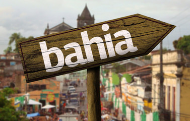 Bahia wooden sign, Brazil