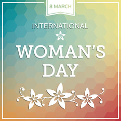 Woman's day background with flowers