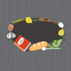 Recipe frame with cookbook