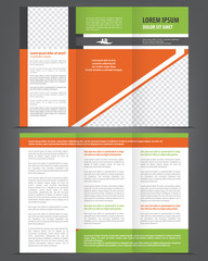 Vector empty trifold brochure template design