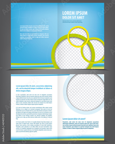 Vector empty brochure template design