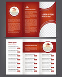 Vector empty trifold brochure template design, menu poster