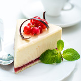 delicious piece of cheesecake