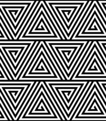 Triangles, Black and White Abstract Seamless Geometric Pattern