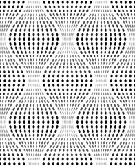 Iridescent Texture with Oval Dots, Vector Seamless Pattern