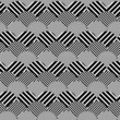 Abstract Striped Textured Geometric Vector Seamless Pattern