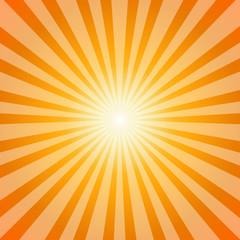 Sunset Sun Sunburst Pattern, Vector illustration