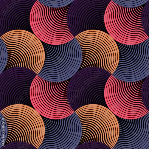 Obraz na Plexi Ornate Geometric Petals Grid, Abstract Vector Seamless Pattern