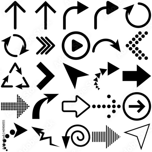 Vector Arrows Signs Set, Vector Illustration