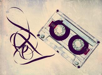 grungy retro tape