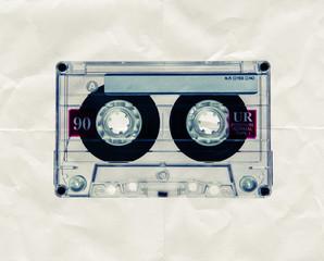 retro cassette paper