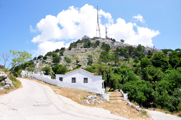 transmitter on Mount Pantokrator, Corfu island, Greece