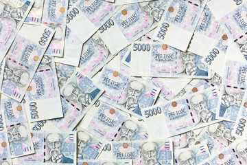czech money background