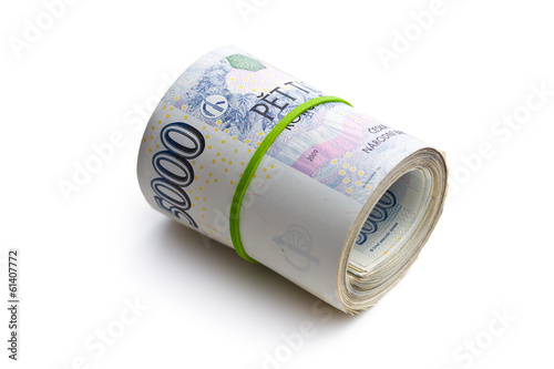 the roll of czech money